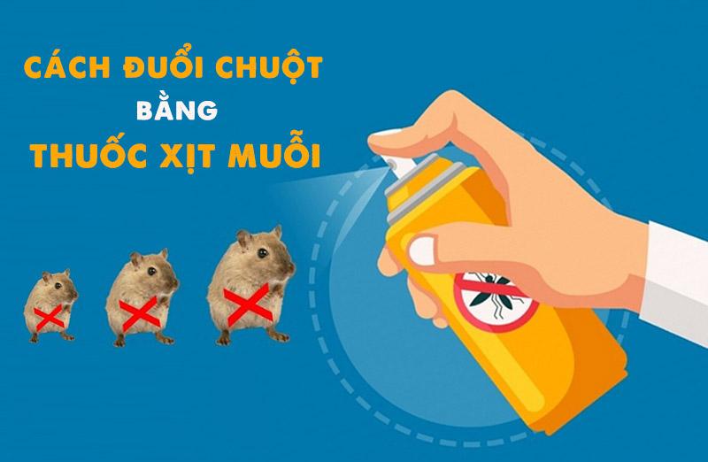 Cách đuổi chuột bằng thuốc xịt muỗi