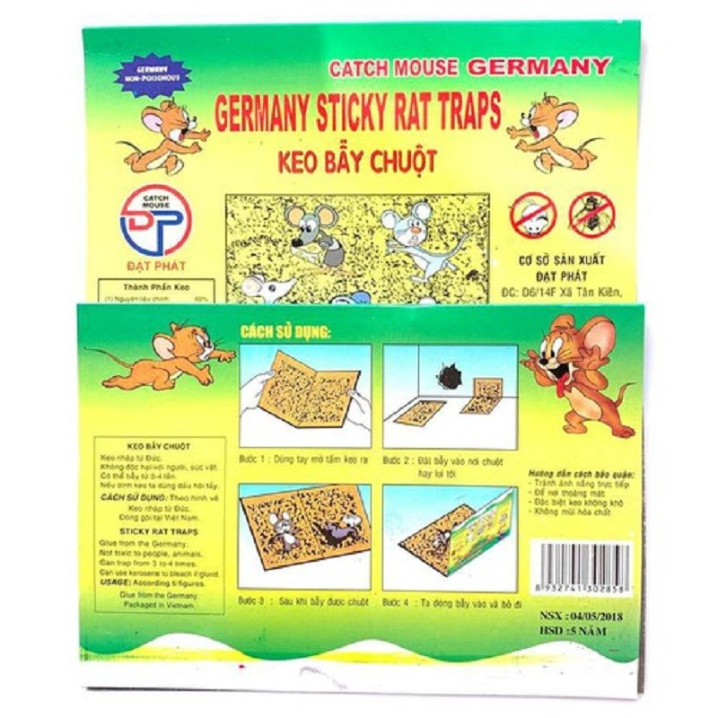 Catch Mouse Germany keo bẫy chuột sản xuất theo công nghệ Đức