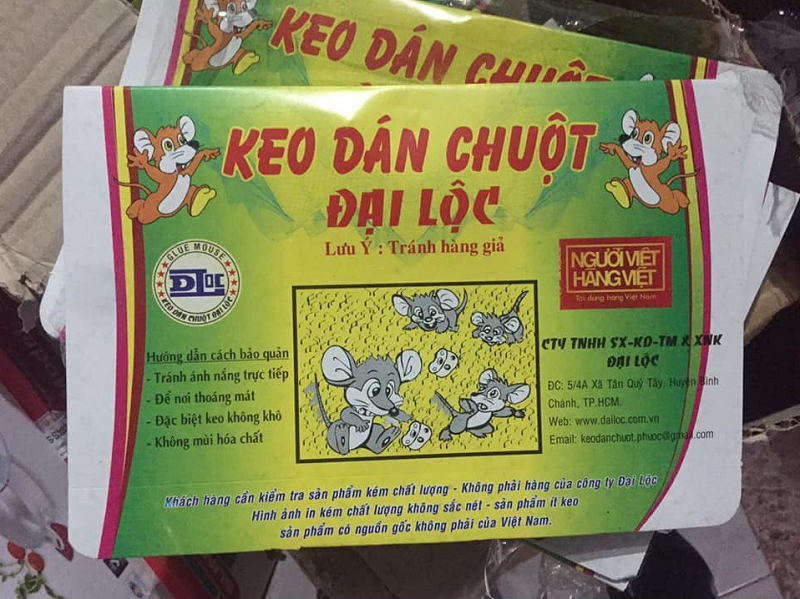 Keo dán chuột Đại Lộc bẫy dính chuột cực kỳ hiệu quả