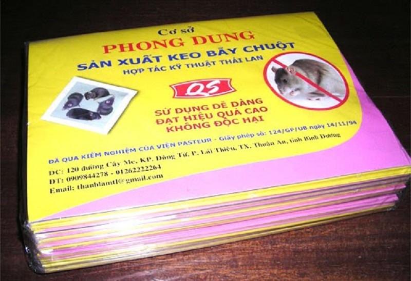 Keo dính chuột Phong Dung được viện Pasteur kiểm định an toàn